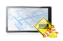 Technology blueprint under construction Stock Images