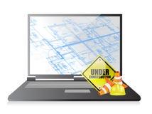 Technology blueprint under construction Stock Photos