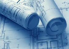 Technology blueprints Stock Images