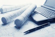 Technology blueprints Royalty Free Stock Photo