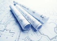 Technology blueprints Stock Photography