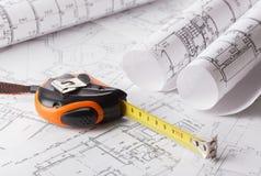 Technology blueprints Royalty Free Stock Image