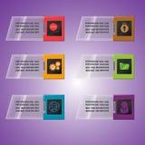 Technology border object colorful slant Stock Images