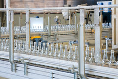 Technology bottling plant for bottles Royalty Free Stock Image