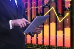 Technology and broker concept Stock Photo
