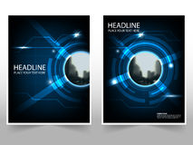Technology Business Brochure Leaflet Flyer annual report template design, book cover layout design, abstract business presentation. Template, a4 size design royalty free illustration