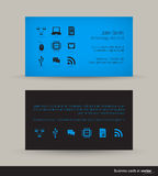 Technology business card Stock Image