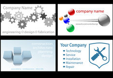 Technology Business Card Designs 4 Up Royalty Free Stock Image