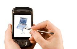 Technology business communication device. Cellular phone and camera isolated clipping paths Royalty Free Stock Photo