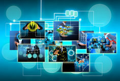 Technology and business concept Stock Images