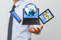 Technology in business hand Stock Photos