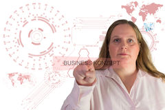 Technology and Businesswoman Stock Photography