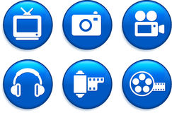 Technology Buttons.  Royalty Free Stock Photography