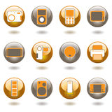 Technology buttons subtle Stock Photography