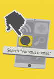 Technology Cell Phone Icons with Quote App Illustration Royalty Free Stock Image