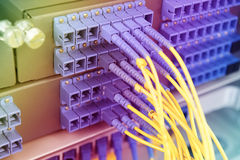 Technology center with fiber optic Royalty Free Stock Image