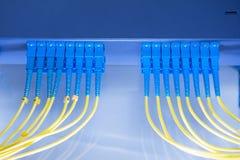Technology center with fiber optic Stock Photo