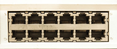 Technology center network switch Royalty Free Stock Image