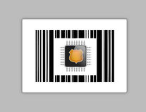 Technology chip upc or barcode Stock Images