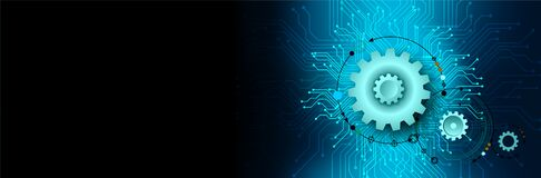 Free Technology Cogs Computer Banner Background Supply. Royalty Free Stock Photos - 220508888