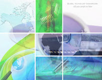 Technology collage Stock Image
