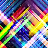 Technology colorful abstract background. Digital technology conc. Ept. Abstract futuristic, shiny lines background. Vector illustration stock illustration