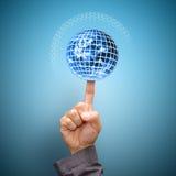Technology communication concept : Polygon eternity Royalty Free Stock Photos