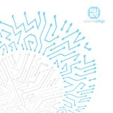 Technology communication cybernetic element. Vector abstract illustration of circuit board. Modern innovation technologies. Backdrop royalty free illustration