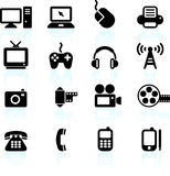 Technology and communication design elements Royalty Free Stock Image