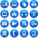 Technology and communication design elements Stock Image