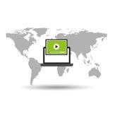 Technology communication icon Royalty Free Stock Image