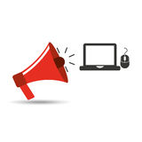 Technology communication icon Stock Photography