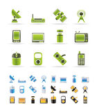 Technology and Communications icons Royalty Free Stock Photos