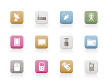 Technology and Communications icons Royalty Free Stock Image