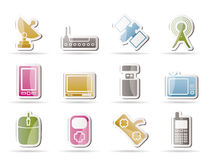 Technology and Communications icons Stock Photo