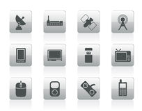Technology and Communications icons Stock Image