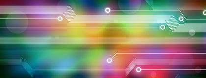 Technology Computer Abstract Background Banner Royalty Free Stock Image