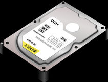 Technology, Computer Component, Hard Disk Drive, Data Storage Device stock image