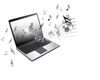 Technology, Computer  and Music  Backround Royalty Free Stock Images