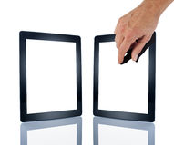 Technology Computer Tablet Hand Stock Photo