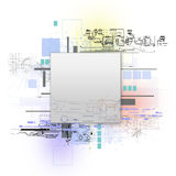 Technology concept. Background can use the Internet, print advertising and design Royalty Free Stock Image