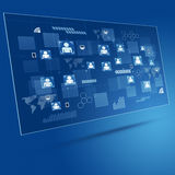 Technology Concept Blue Business Background Royalty Free Stock Photography