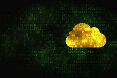 Technology concept: Cloud on digital background Stock Images