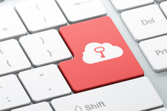 Technology concept: Cloud Whis Key on computer keyboard ba Royalty Free Stock Images