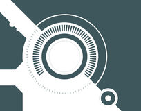 Technology concept illustration. Gears and cogs type technology concept illustration Stock Photo