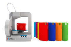 Technology concept. Modern Home 3d printer print Multicolour Mob Stock Photography