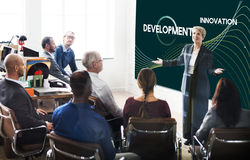 Technology Connect Development Network Process Concept stock images