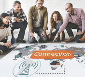 Technology Connection Communication Interconnection Concept Stock Image