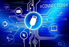 Technology Connection Communication Internet Innovations Concept.  Royalty Free Stock Photos