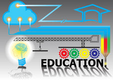 Technology connection education background Stock Image